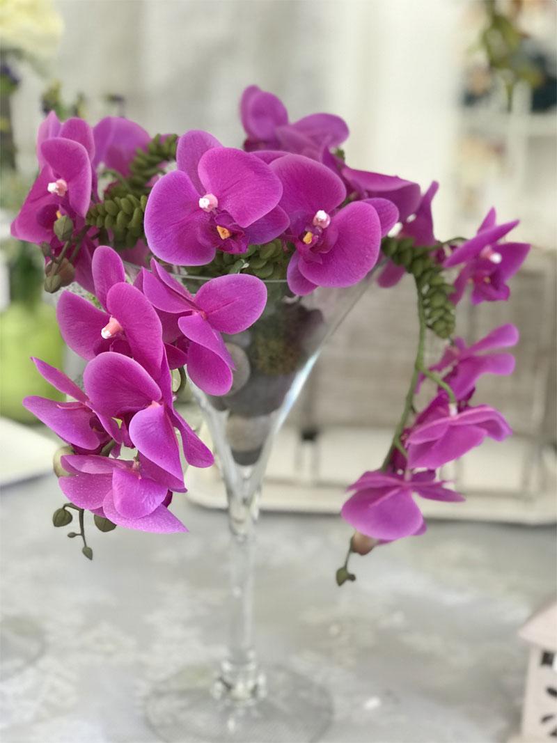déco Fleurs Fiori artificiali coppa orchidea