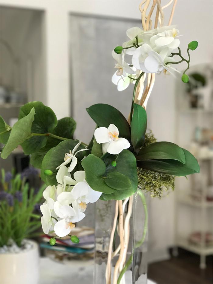 déco Fleurs Fiori artificiali orchidea e foglia begonia