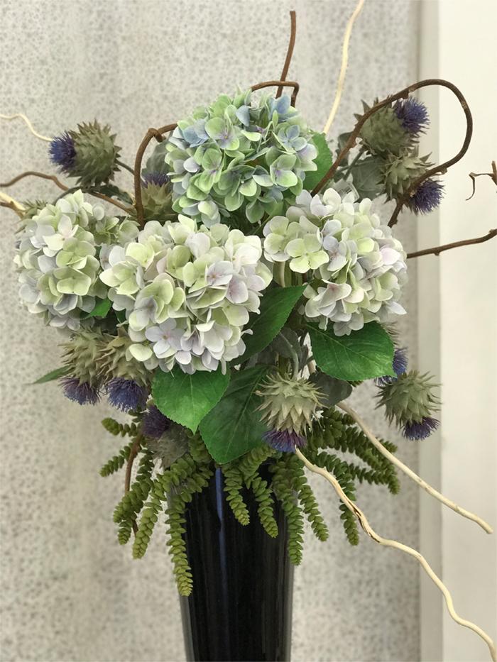 déco Fleurs fiori artificiali ortensia e cardo