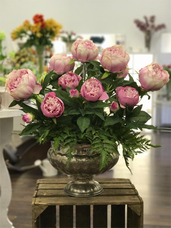 déco Fleurs fiori artificiali peonie rosa