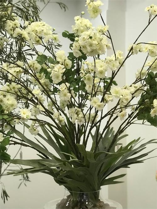 déco Fleurs fiori artificiali pesco bianco