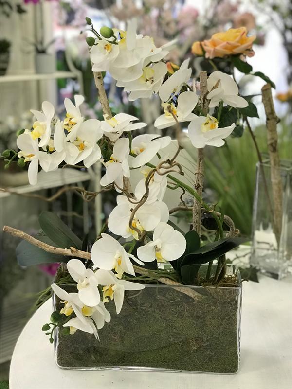 déco Fleurs Fiori artificiali orchidea muschio