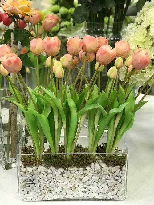déco Fleurs fiori artificiali tulipani