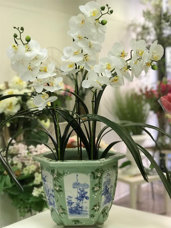 Deco Fleurs fiori artificiali orchidea 2
