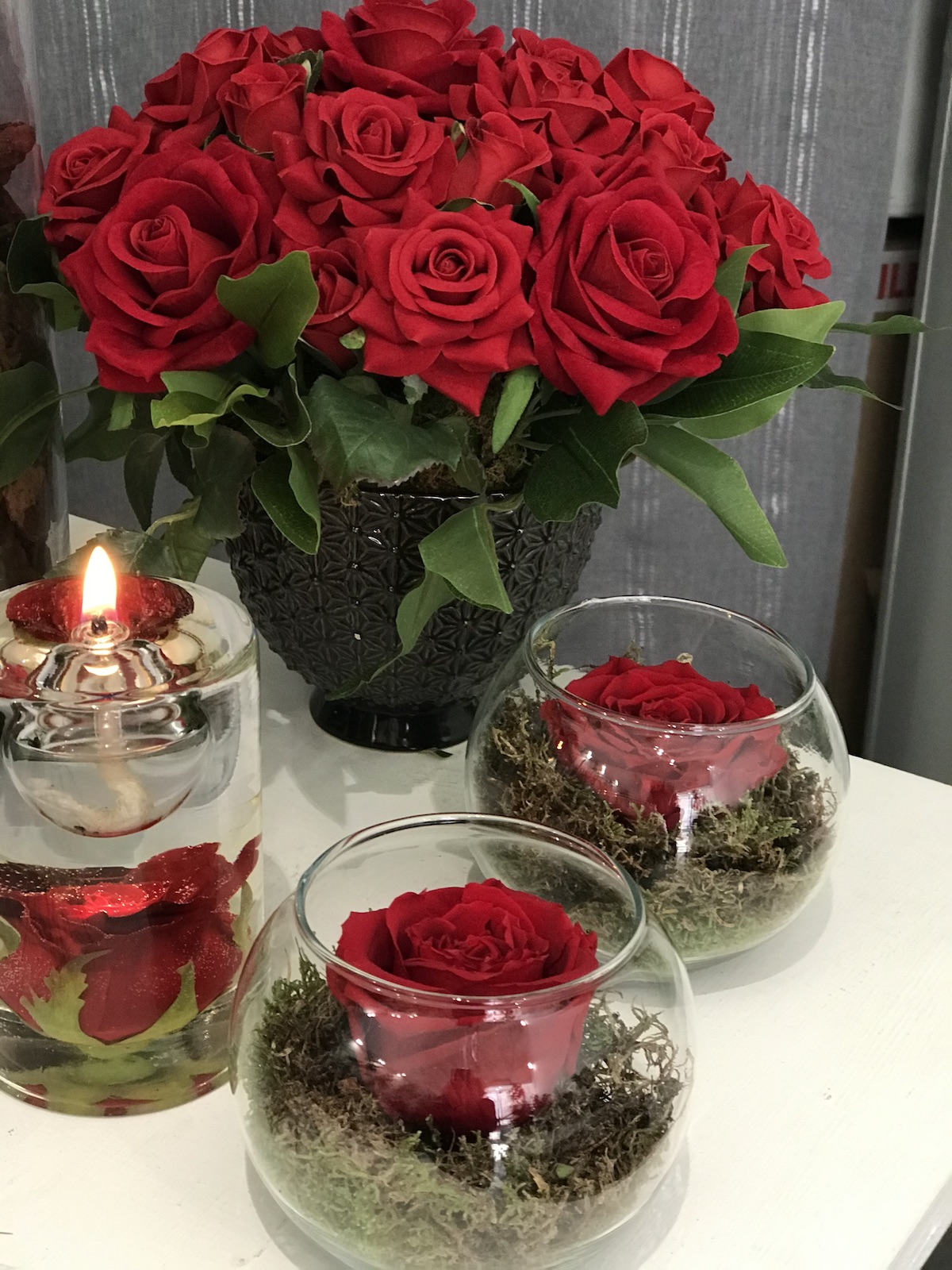 Rose stabilizzate deco fleurs roma prati