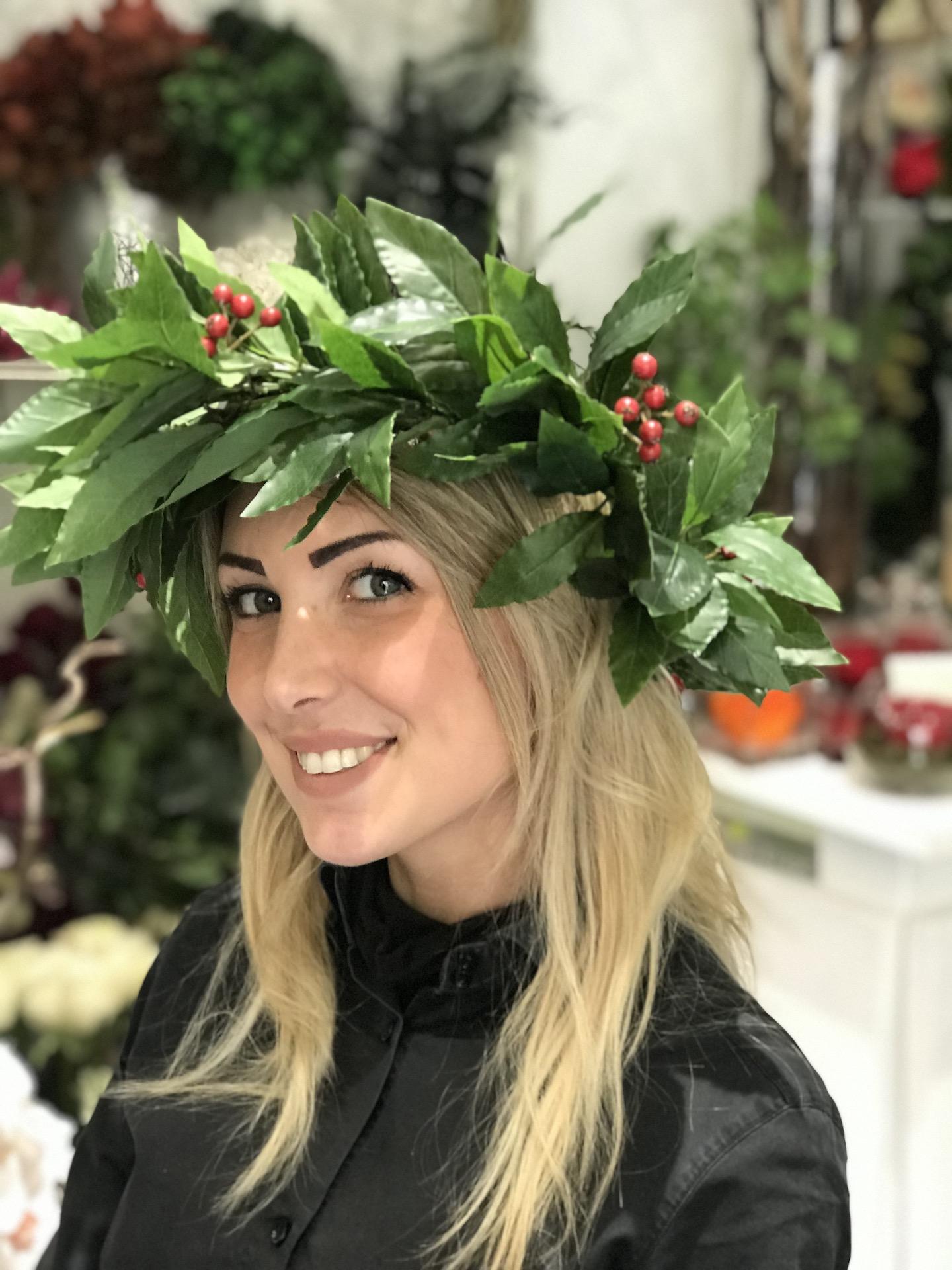Coroncina_laurea_Fiori_artificiali_Deco_fleurs