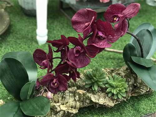 Deco Fleurs fiori artificiali phalenopsis rossa