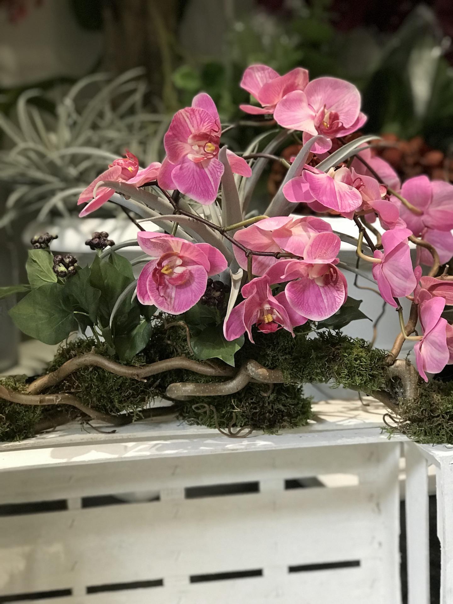 Nocciolo_contorto_orchidea_Fiori_artificiali_Deco_fleurs