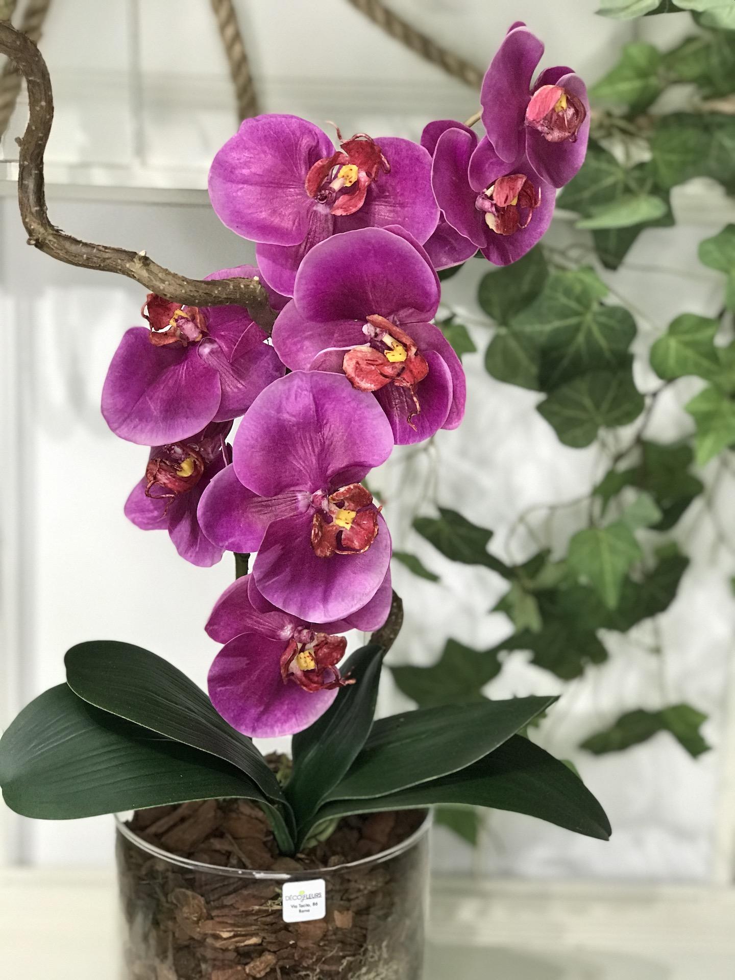 Orchidea_finta_fucsia_deco_fleurs