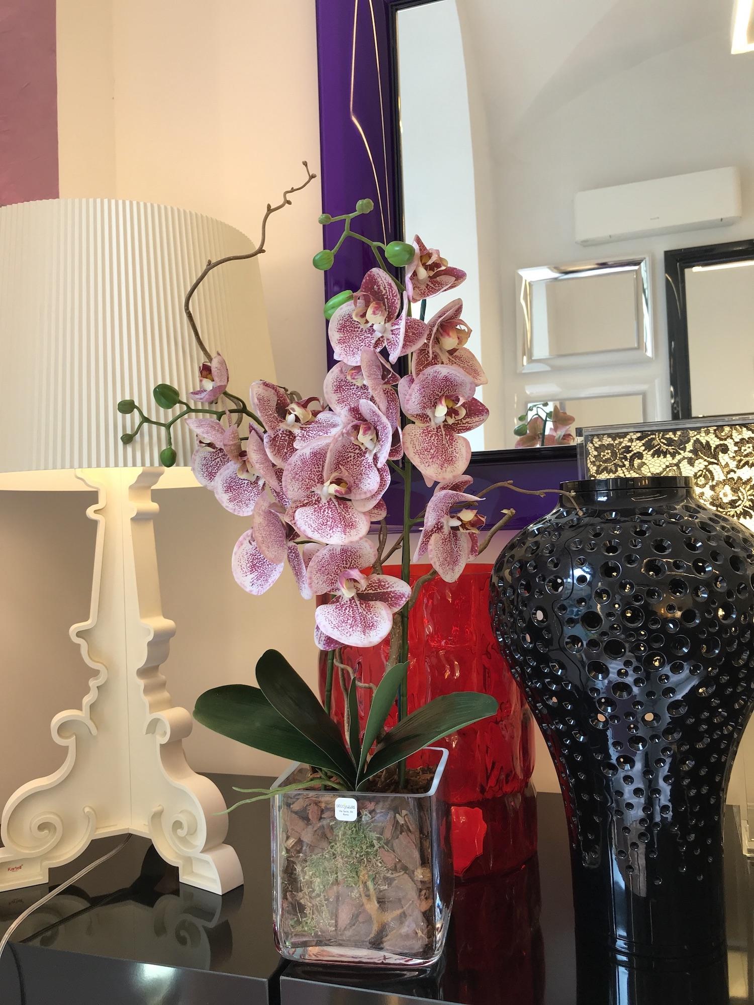 Orchidea_finta artificiale kartell deco_fleurs