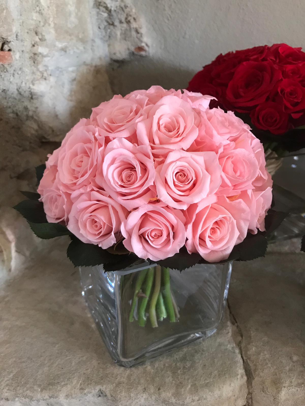 Bouquet rose stabilizzate acqua magica