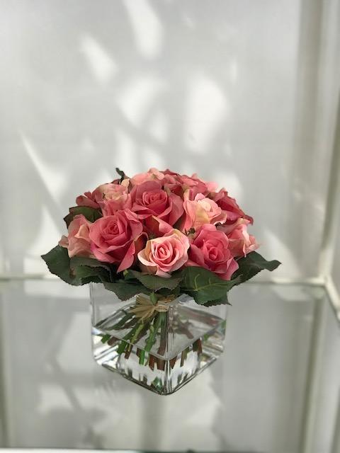 Cubo effetto acqua orchidea_Rose_artificiali_