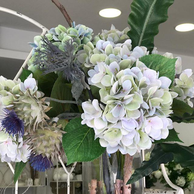 sandrabalduccci fiori artificiali ortensia e cardo