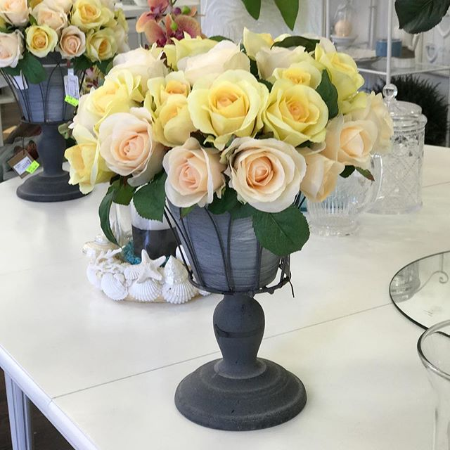 sandrabalducci fiori artificiali rose cream