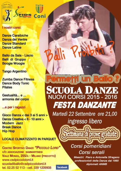 CORSI DI BALLO E DANZA 2015/16.