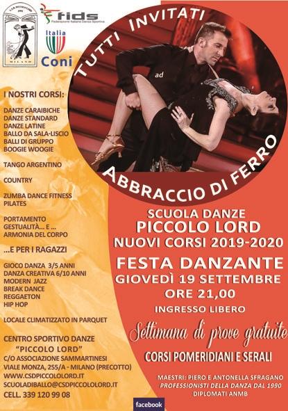 CORSI DI BALLO E DANZA MILANO 2019/2020