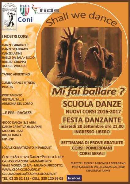 SCUOLA DI BALLO PICCOLO LORD MILANO STAGIONE 2016/17