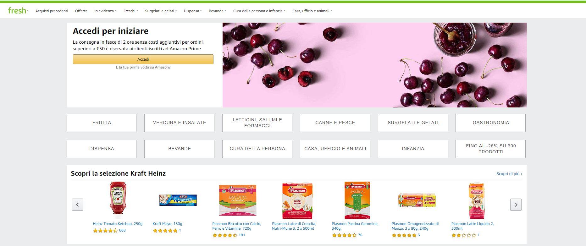 Amazon.it introduce Amazon Fresh a Milano come opzione di consegna della spesa in giornata