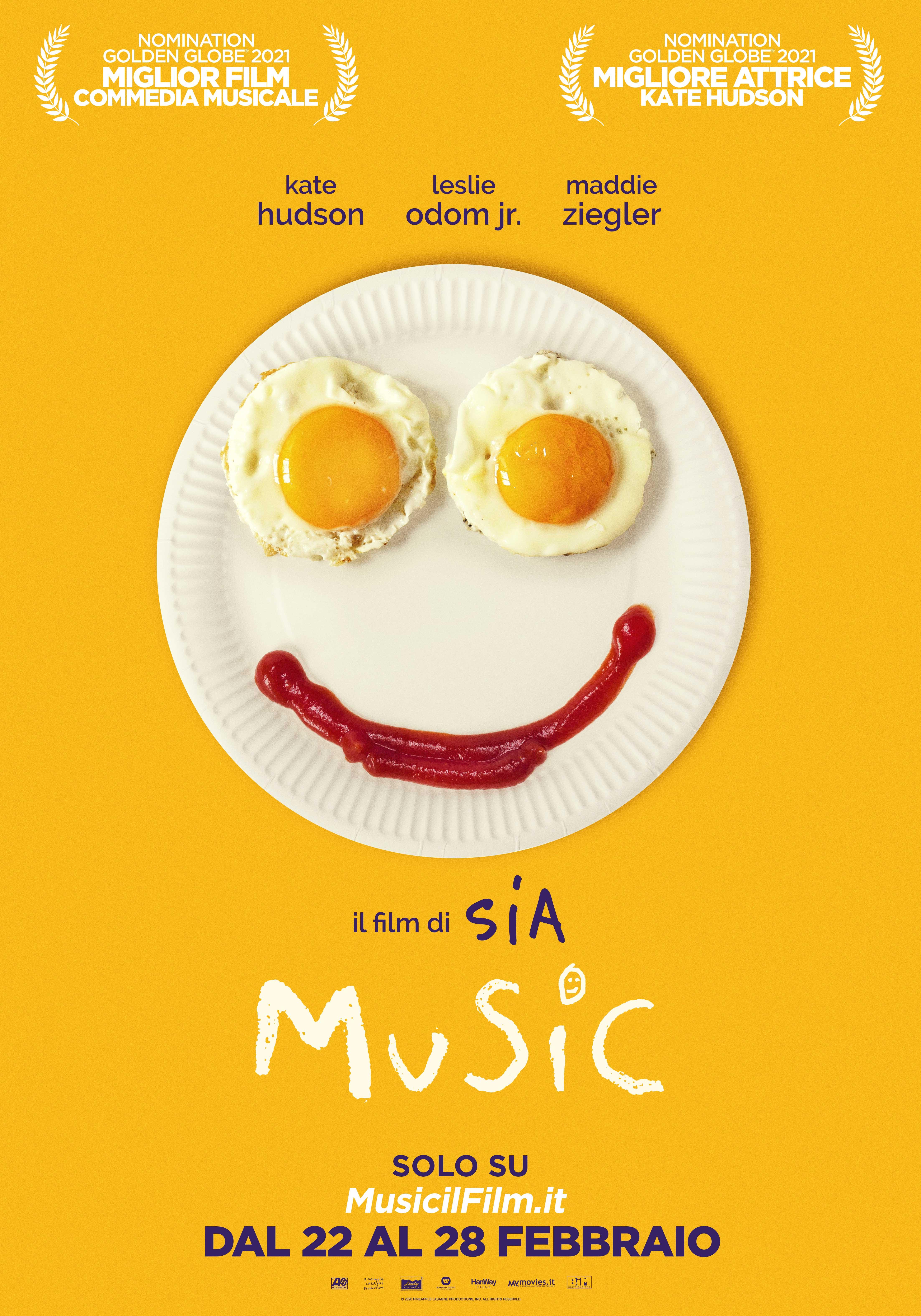 MUSIC, il film di SIA in streaming DISPONIBILE DAL 22 AL 28 FEBBRAIO SOLO SU MusicilFilm.it