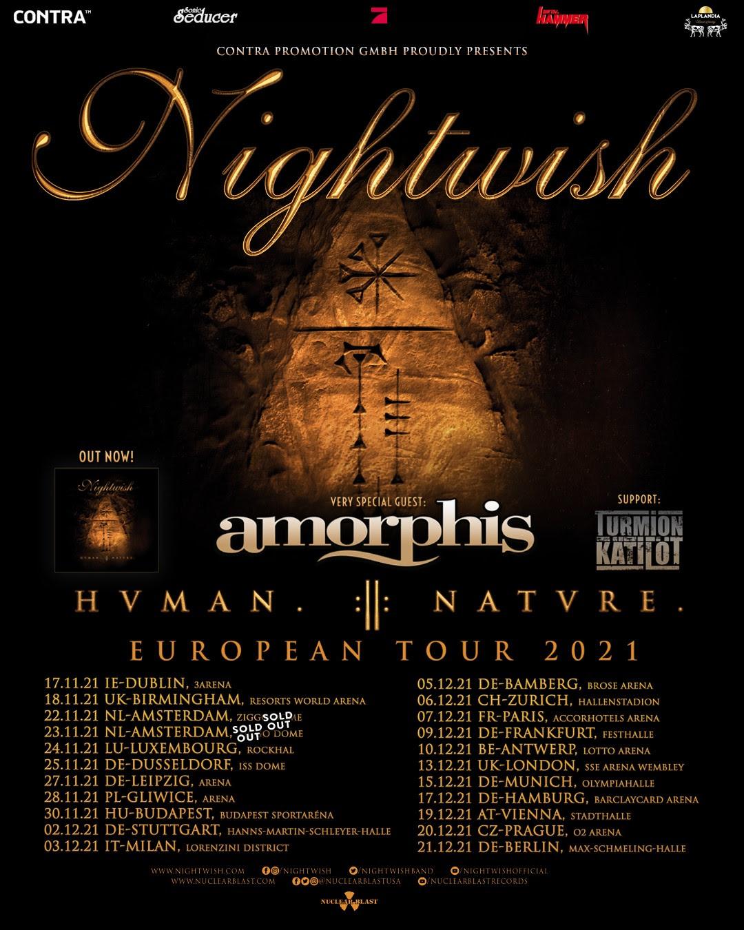 NIGHTWISH – posticipano il tour europeo!