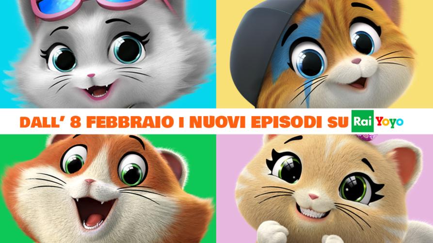 44 GATTI: dall'8/2 su RAI Yoyo i nuovi episodi dell'amatissima serie animata targata Rainbow