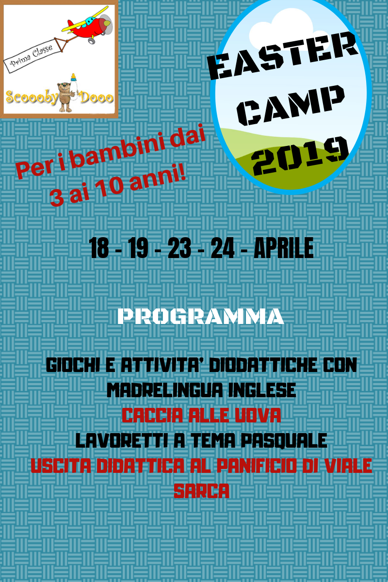 asilo Scooobydooo - easter camp 2019