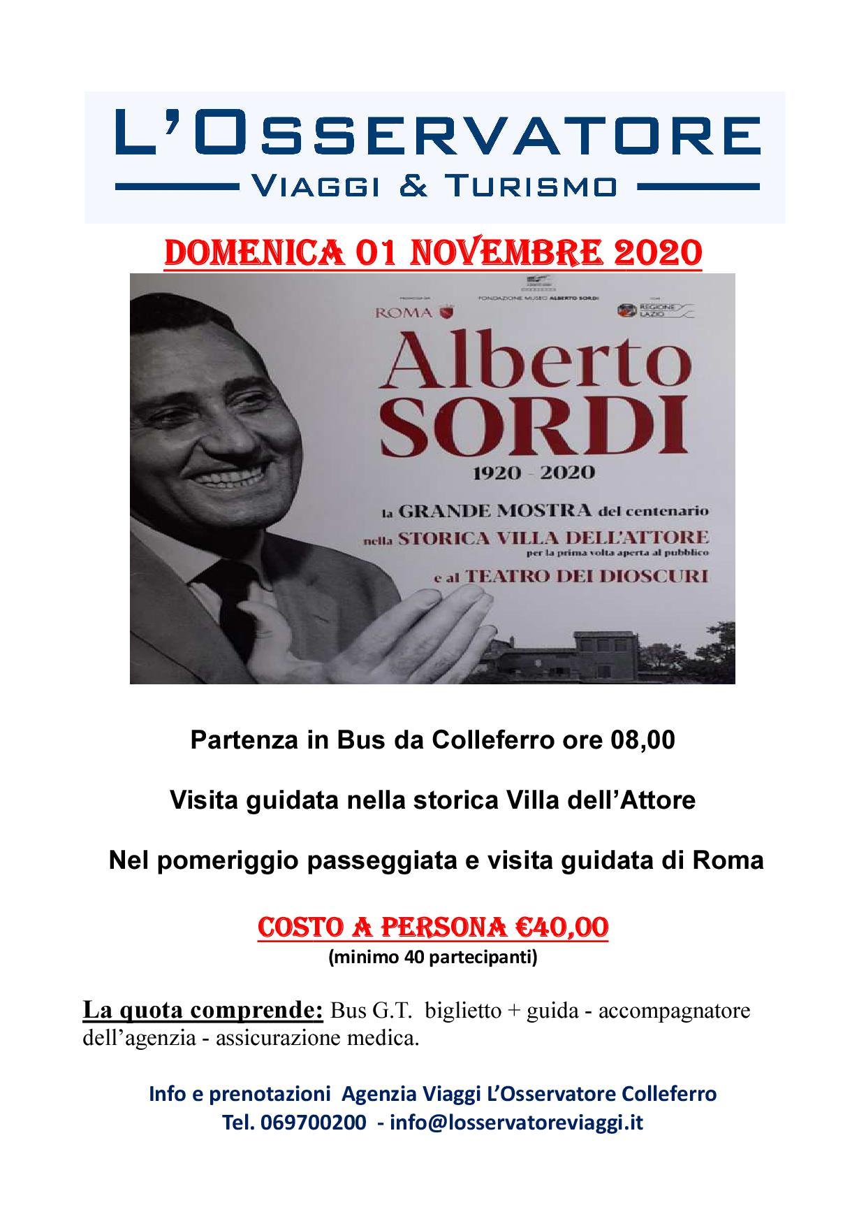 La Villa di Alberto Sordi in attesa della nuova data