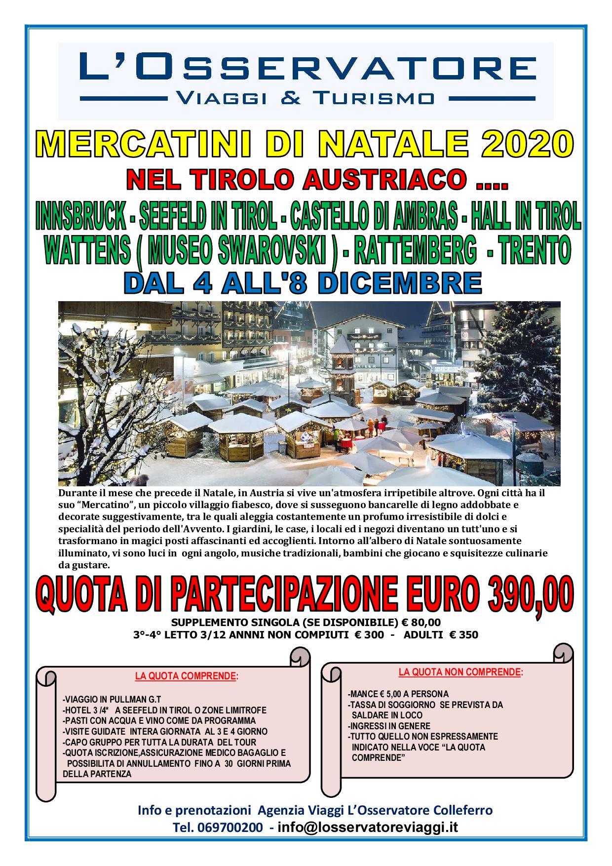 Mercatini In Tirolo