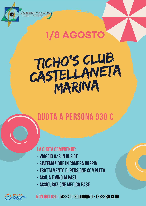 TICHO'S CLUB 1/8 AGOSTO 2021