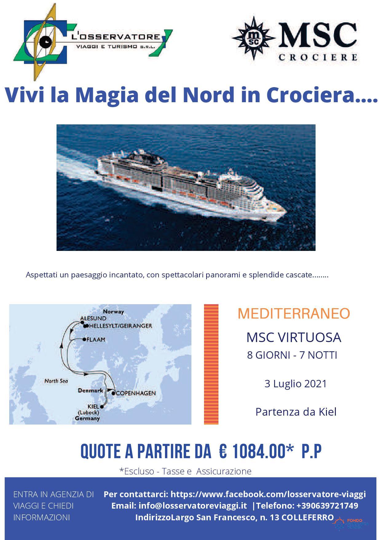 Crociera Nord Europa Luglio 2021