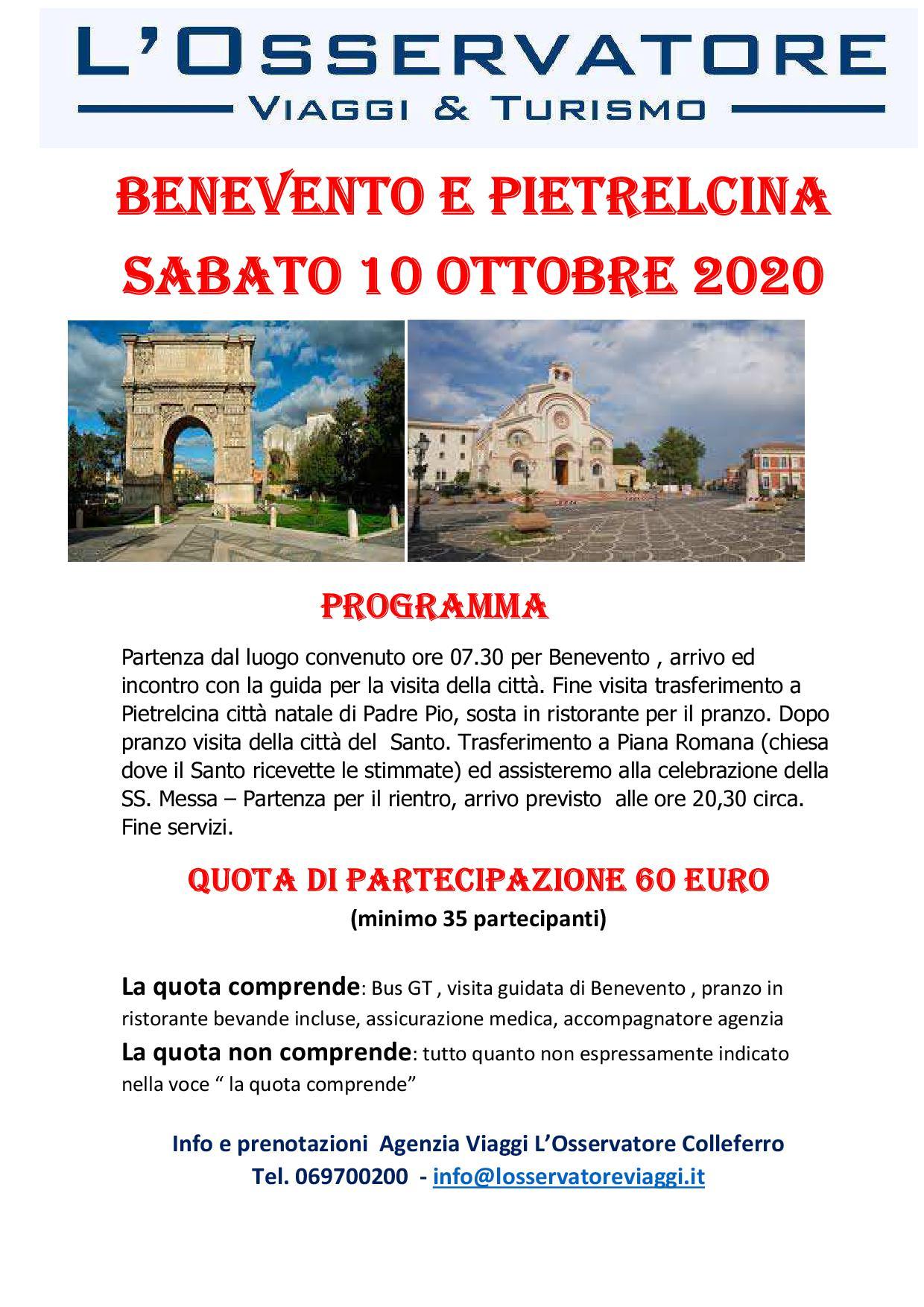 Benevento e Pietralcina