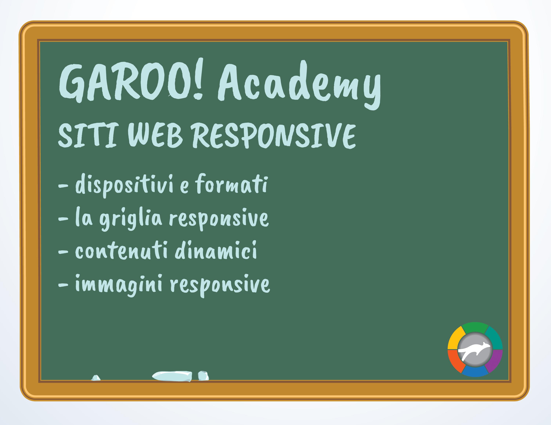 GAROO!ACADEMY on air il primo corso dedicato ai siti web responsive