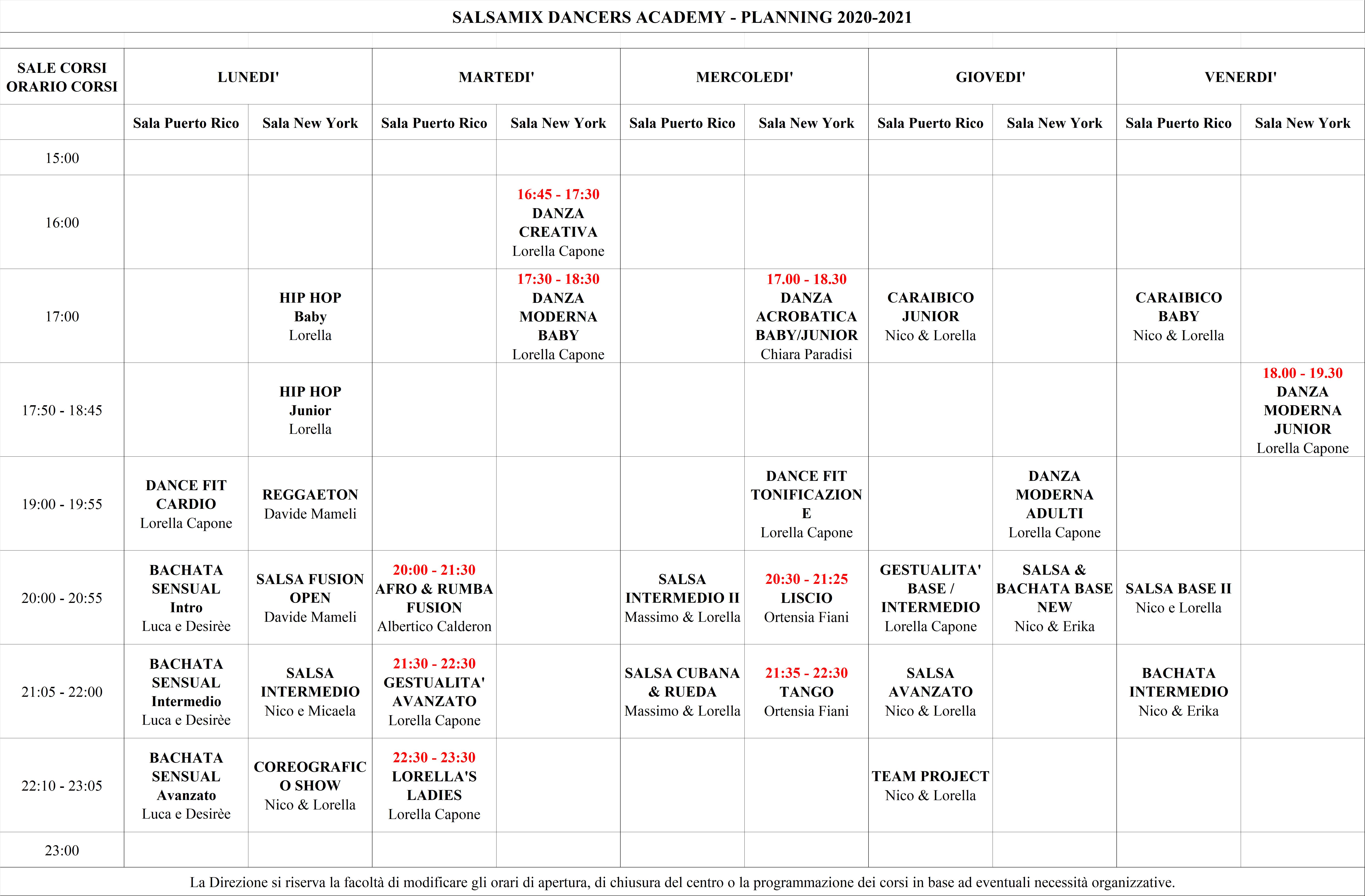 Planning corsi 2020-2021