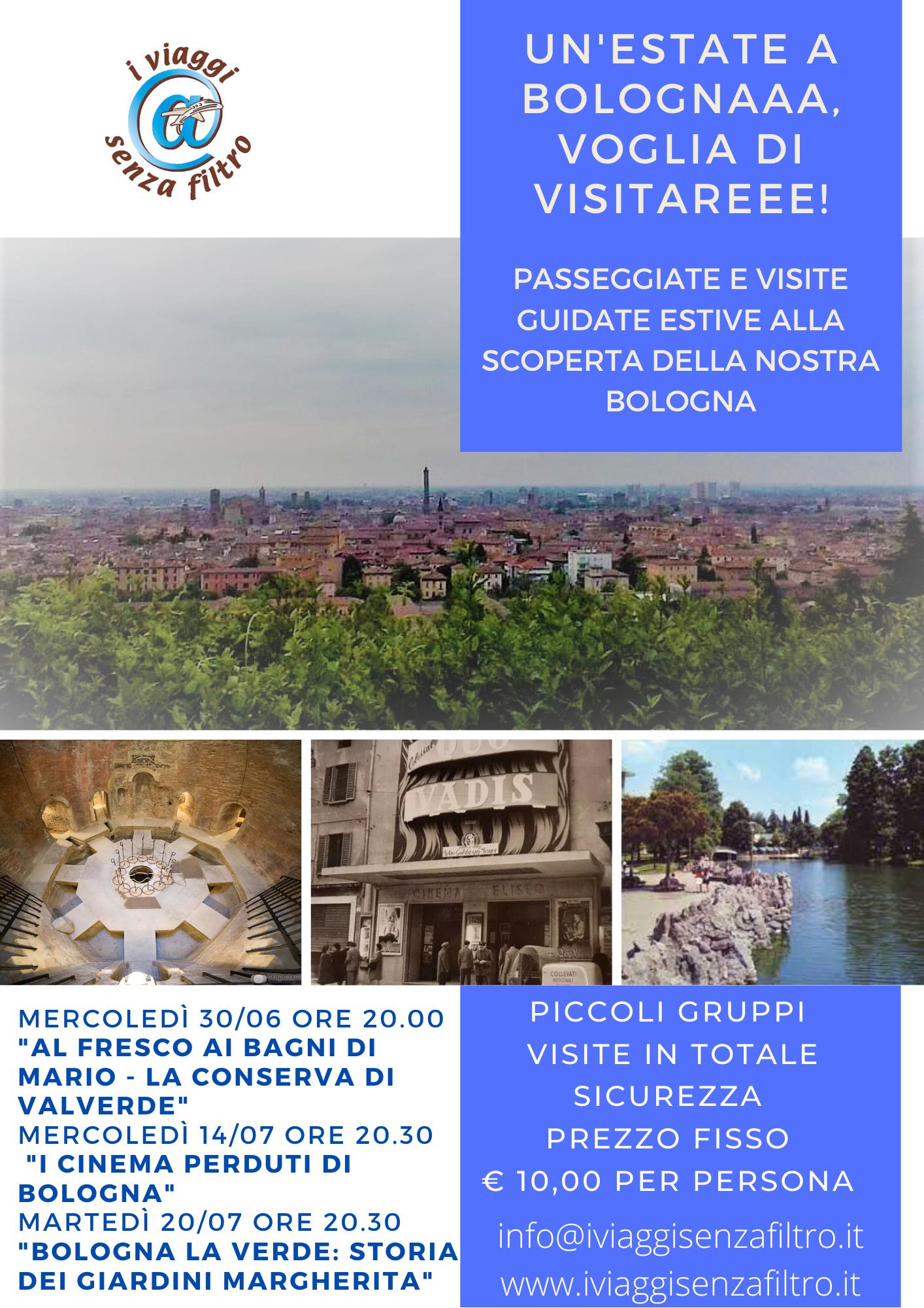UN'ESTATE A BOLOGNAAA, VOGLIA DI VISITAREEE - visite guidate serali a Bologna Giugno Luglio
