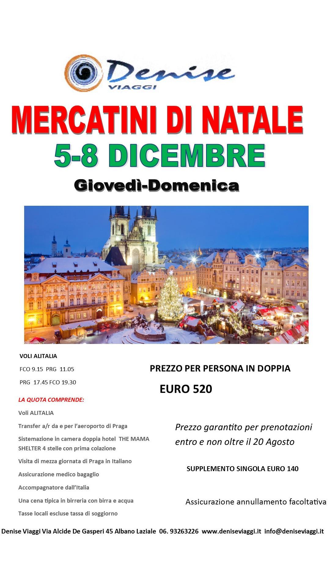 Mercatini di Natale 5 - 8 Dicembre 2019